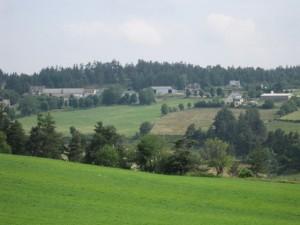 Hameau de La Vedrinelle, commune de Sainte Colombe de Peyre.